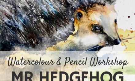 'Mr Hedgehog' – Wildlife Watercolour & Pencil Workshop