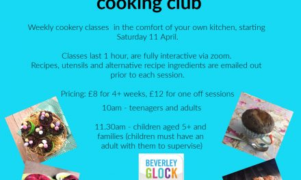 Cookery classes, virtual and interactive for children and adults