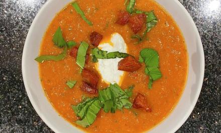 Recipe: Spicy chorizo and tomato soup